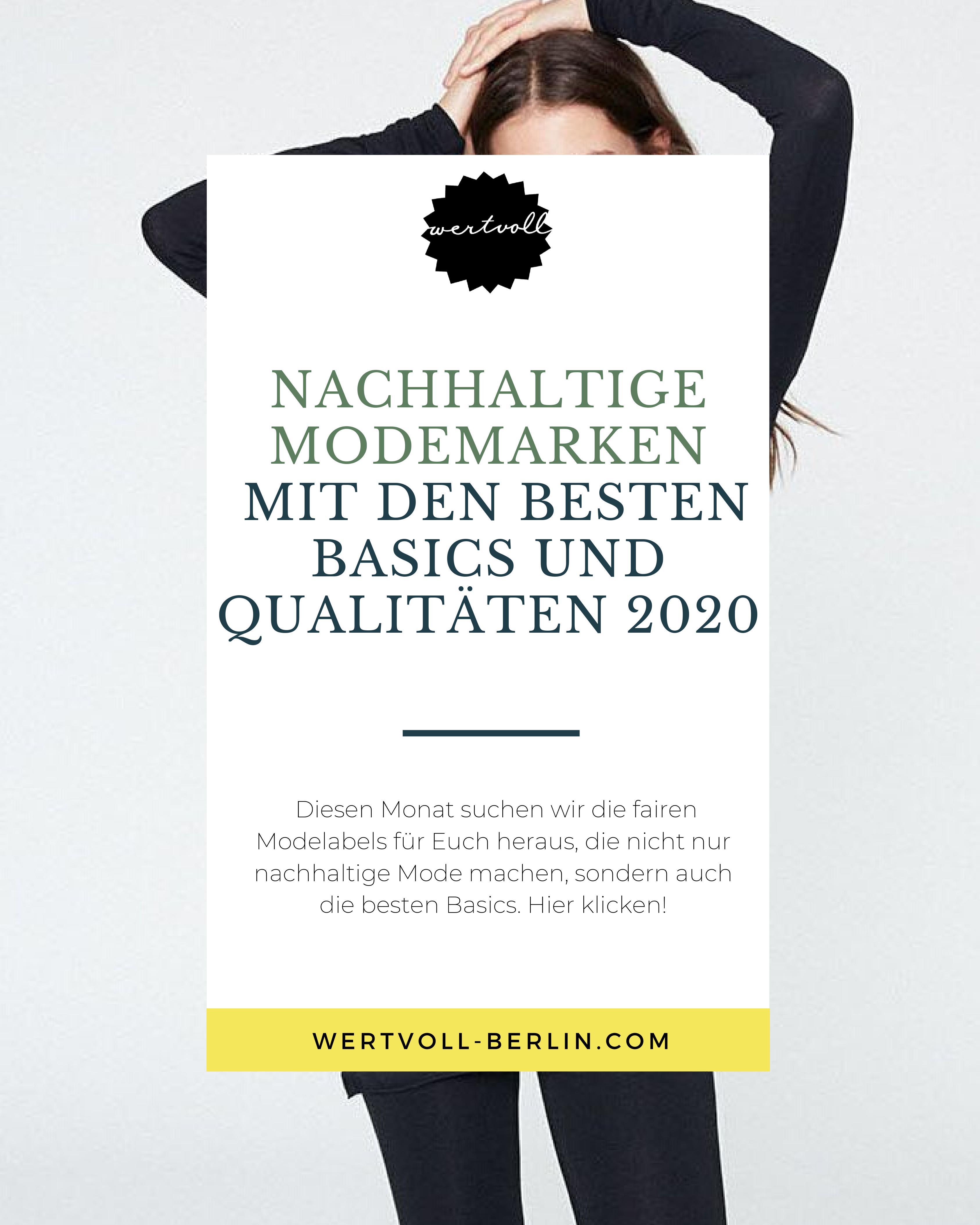 Nachhaltige Modemarken mit den besten Basics und Qualitäten 2020
